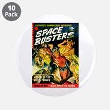 "Space Warrior Women 3.5"" Button (10 pack)"