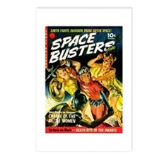 Space Warrior Women Postcards (Package of 8)