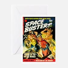 Space Warrior Women Greeting Card