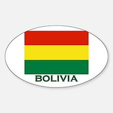 Bolivia Flag Stuff Oval Decal