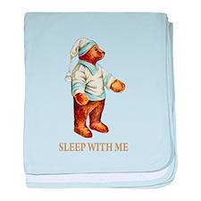 Sleepy Time Bear baby blanket