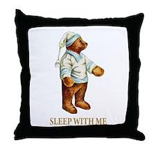 Sleepy Time Bear Throw Pillow