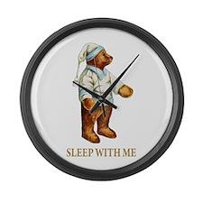 Sleepy Time Bear Large Wall Clock