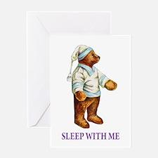 Sleepy Time Bear Greeting Card