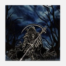 GRIM REAPER AT NIGHT Tile Coaster