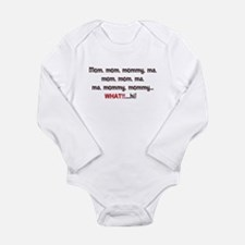 Mom, Mommy, Ma Long Sleeve Infant Bodysuit