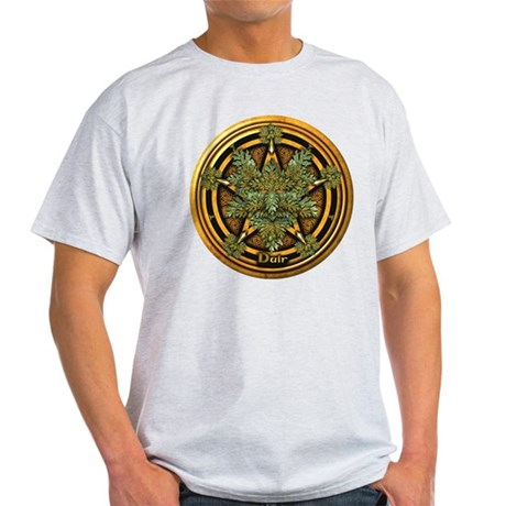 Oak Celtic Greenman Pentacle Light T-Shirt