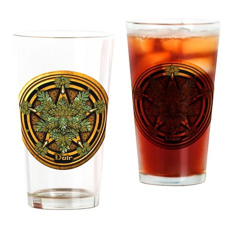 Oak Celtic Greenman Pentacle Drinking Glass