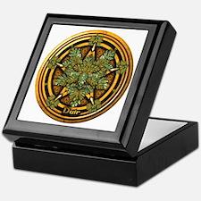 Oak Celtic Greenman Pentacle Keepsake Box