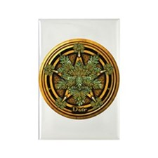 Oak Celtic Greenman Pentacle Rectangle Magnet