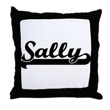 Black jersey: Sally Throw Pillow