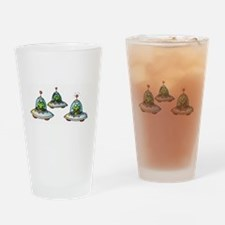 THREE ALIENS Drinking Glass