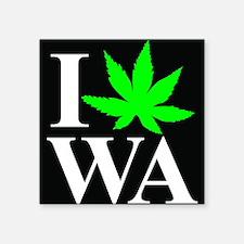 """I Love WA Square Sticker 3"""" x 3"""""""