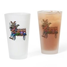 THREE LITTLE PIGS Drinking Glass