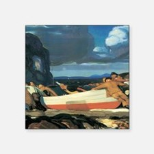 """George Bellows The Big Dory Square Sticker 3"""" x 3"""""""