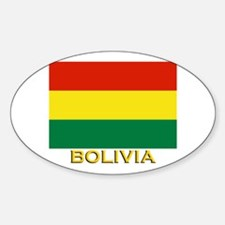 Bolivia Flag Gear Oval Decal