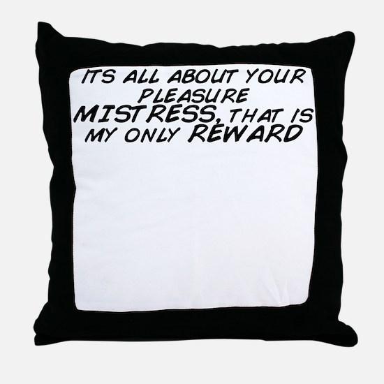 Cute Reward Throw Pillow