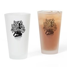 YEAH I LOVE THE STRIppERS Drinking Glass