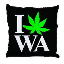 I Love WA Throw Pillow