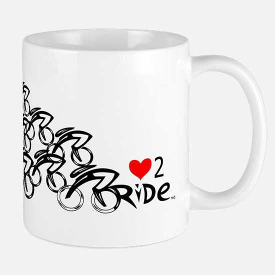 Peloton love2ride Mugs