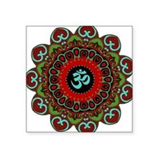 Om of Chaos Rectangle Sticker