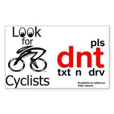 pls dnt txt n drv and look for cyclists Decal