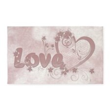 Love Letter 3'x5' Area Rug