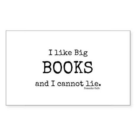I Like Big BOOKS Sticker (Rectangle)