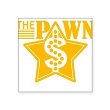 """The PAWN Shop Star - YELLOW Square Sticker 3"""" x 3"""""""