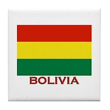 Bolivia Flag Merchandise Tile Coaster