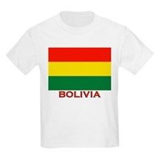 Bolivia Flag Merchandise Kids T-Shirt