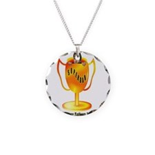 happy fathers day art illustration Necklace