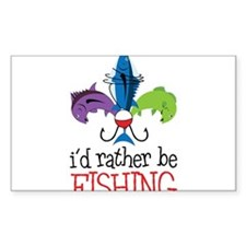 Rather Be Fishing Decal