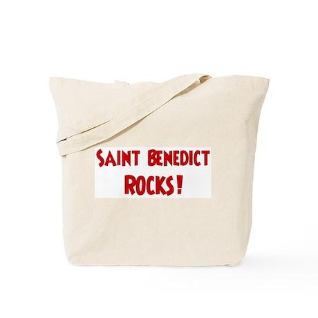 Saint Benedict Rocks Tote Bag