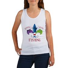 Peace Love Fishing Women's Tank Top