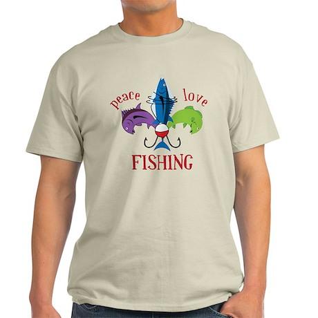 Peace Love Fishing Light T-Shirt