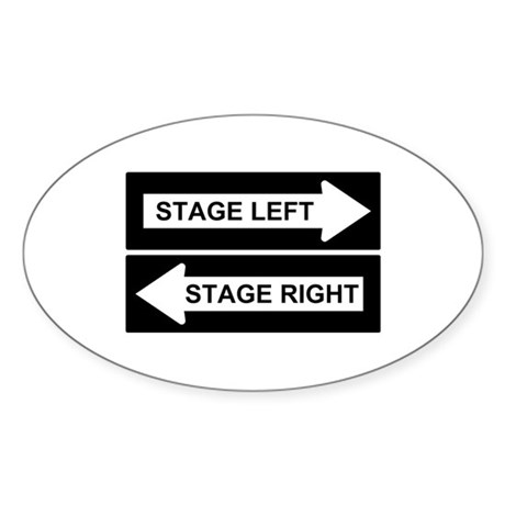 Stage Left Sticker (Oval)