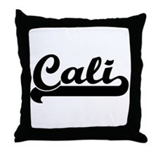 Black jersey: Cali Throw Pillow