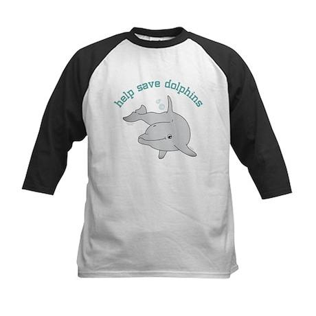 Help Save Dolphins Kids Baseball Jersey