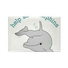 Help Save Dolphins Rectangle Magnet