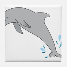 Jumping Dolphin Tile Coaster