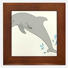Jumping Dolphin Framed Tile