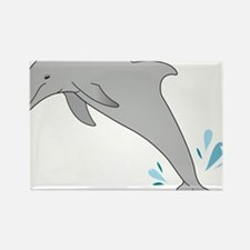 Jumping Dolphin Rectangle Magnet
