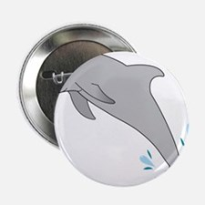 """Jumping Dolphin 2.25"""" Button"""