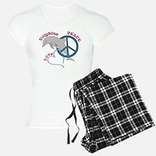 Peace Love Dolphins Pajamas