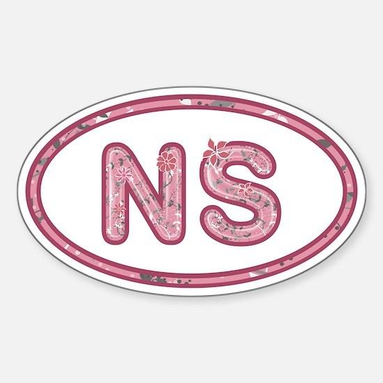 NS Pink Sticker (Oval)
