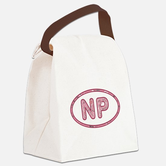 NP Pink Canvas Lunch Bag