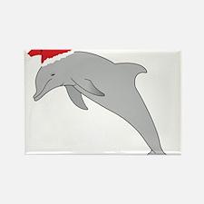 Santa Dolphin Rectangle Magnet