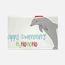 Happy Swimming Rectangle Magnet