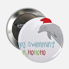"""Happy Swimming 2.25"""" Button"""